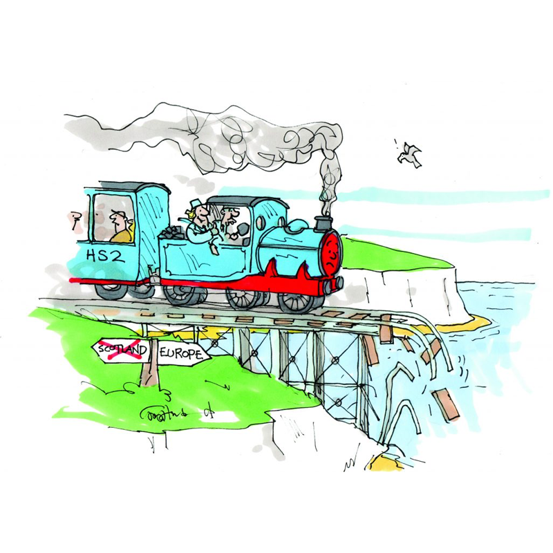 conservatives driving HS2 off a cliff