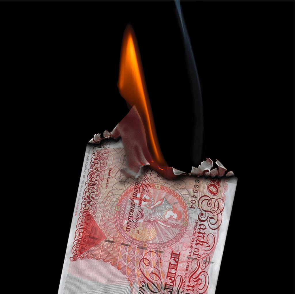 burning money - inflation